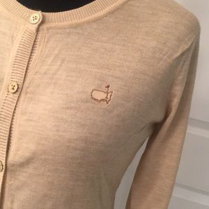Augusta National Masters Logo Cashmere Cardigan